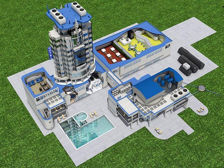 Impianti trattamento acqua per hotel