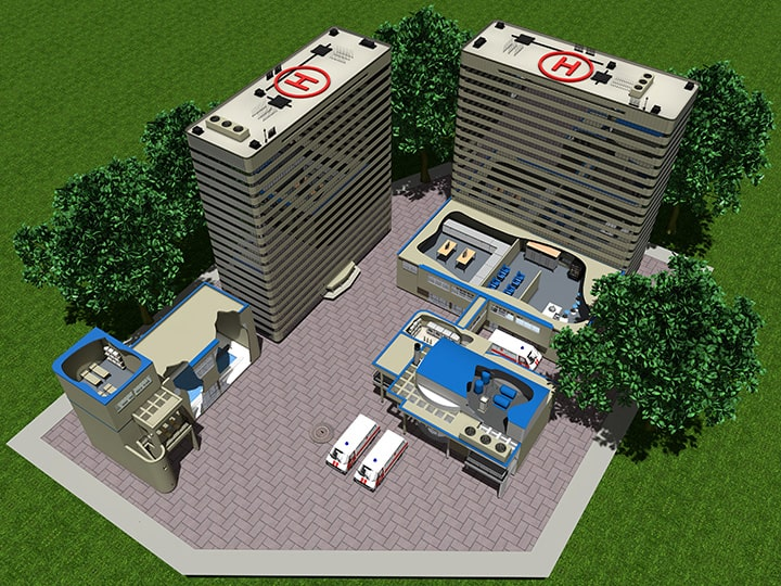 Impianti trattamento acqua per ospedali e strutture sanitarie