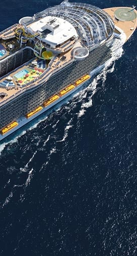 Trattamento acqua per navi da crociera